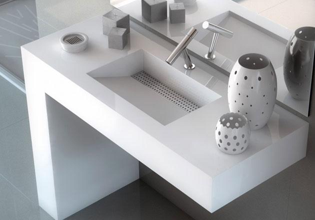 Bancada de casa de banho Silestone minimal