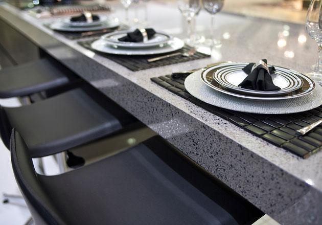 Bancada de cozinha Silestone Stell by Cosentinho – AFS – Mármores e Granitos